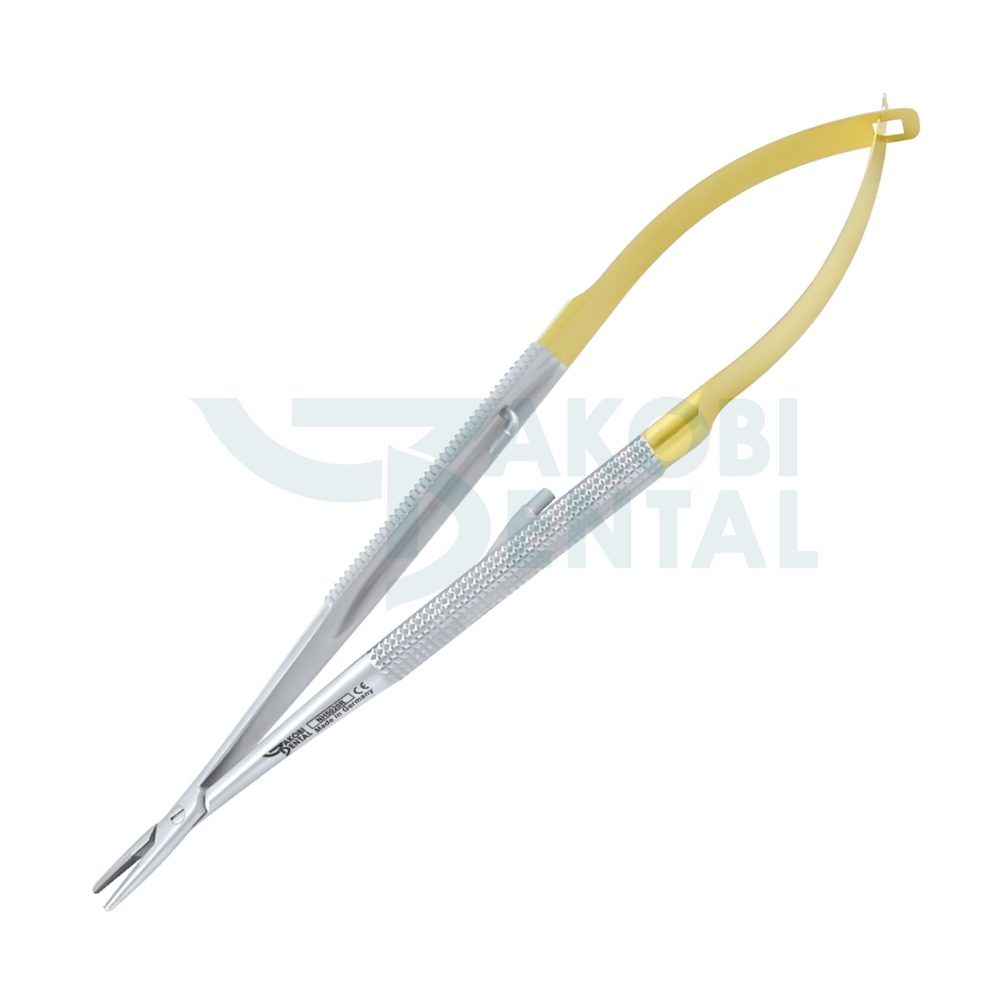 TC Micro-Nadelhalter Castroviejo, Rundgriff, 140mm, gerade/gebogen