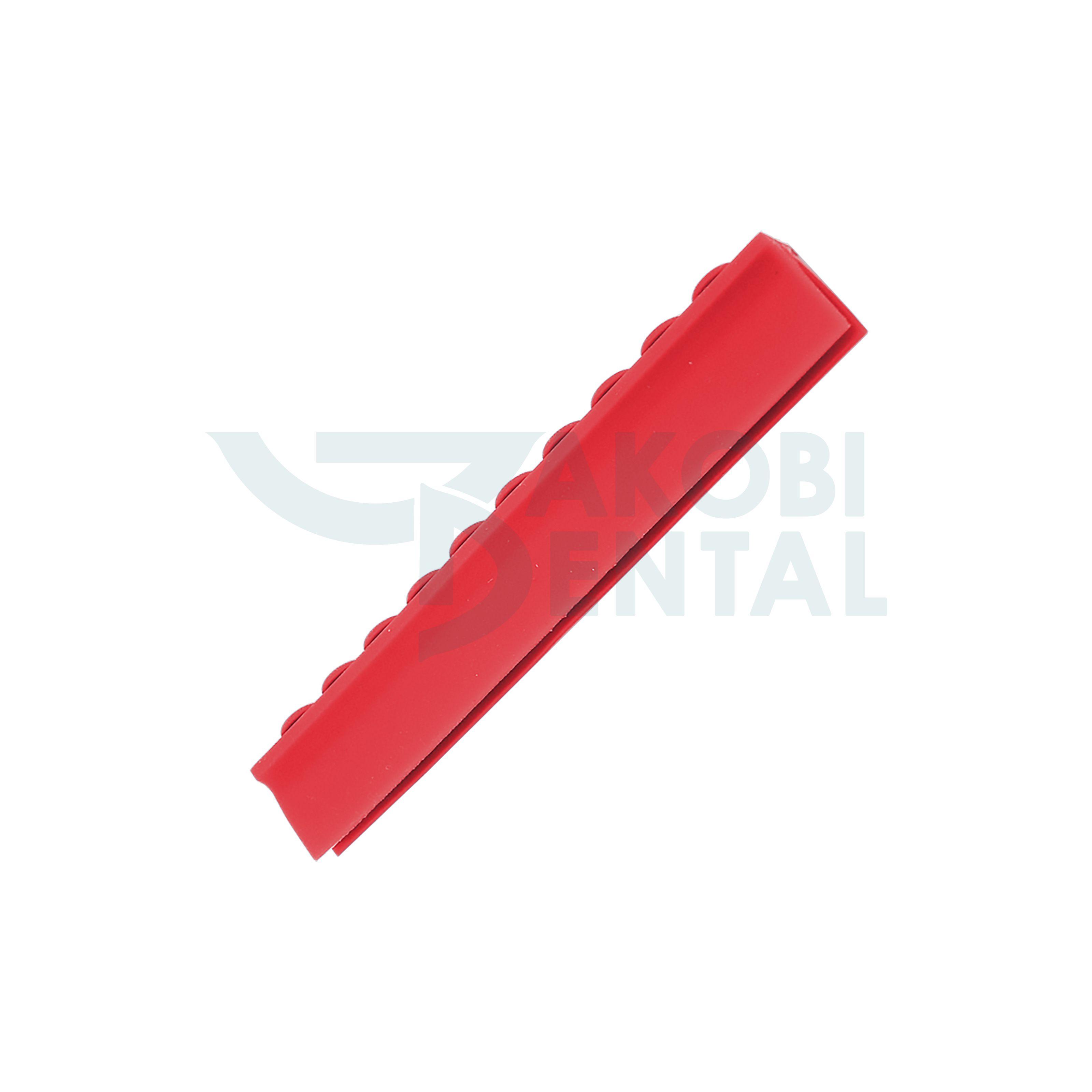 Deckelschiene für 10 Instrumente, rot