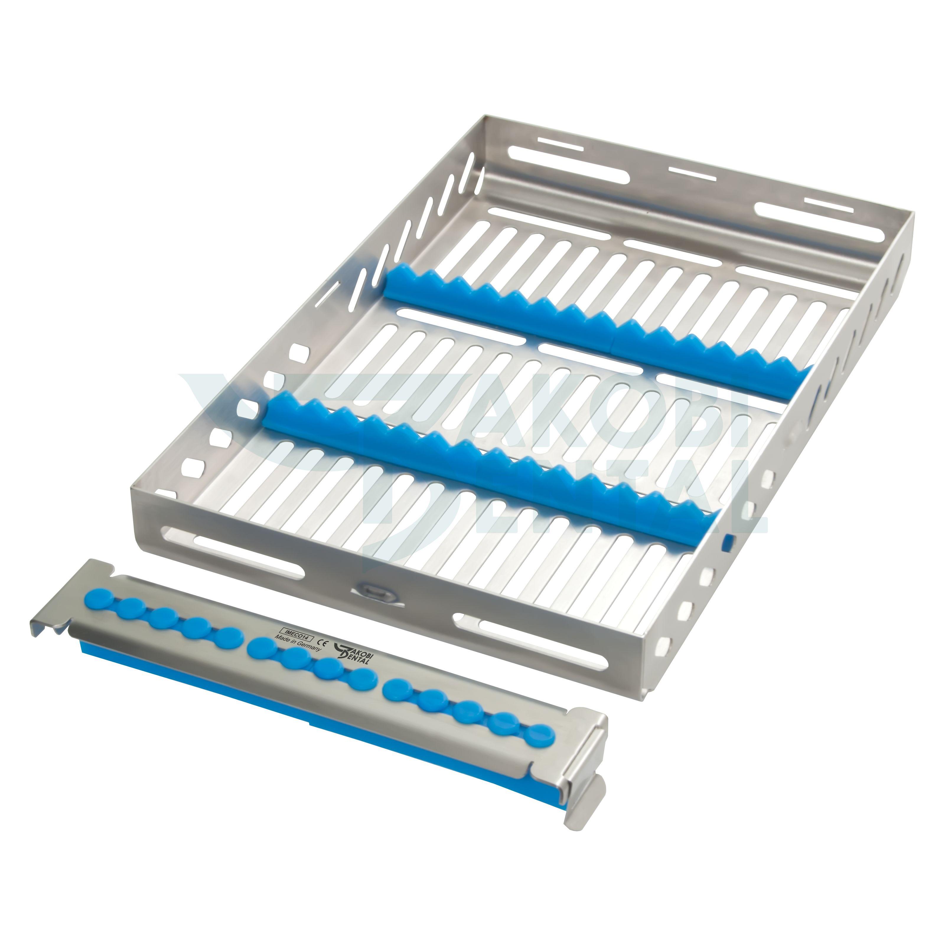 Economy Kassette / Waschtray für 14 längere Instr. - Farbe wählbar