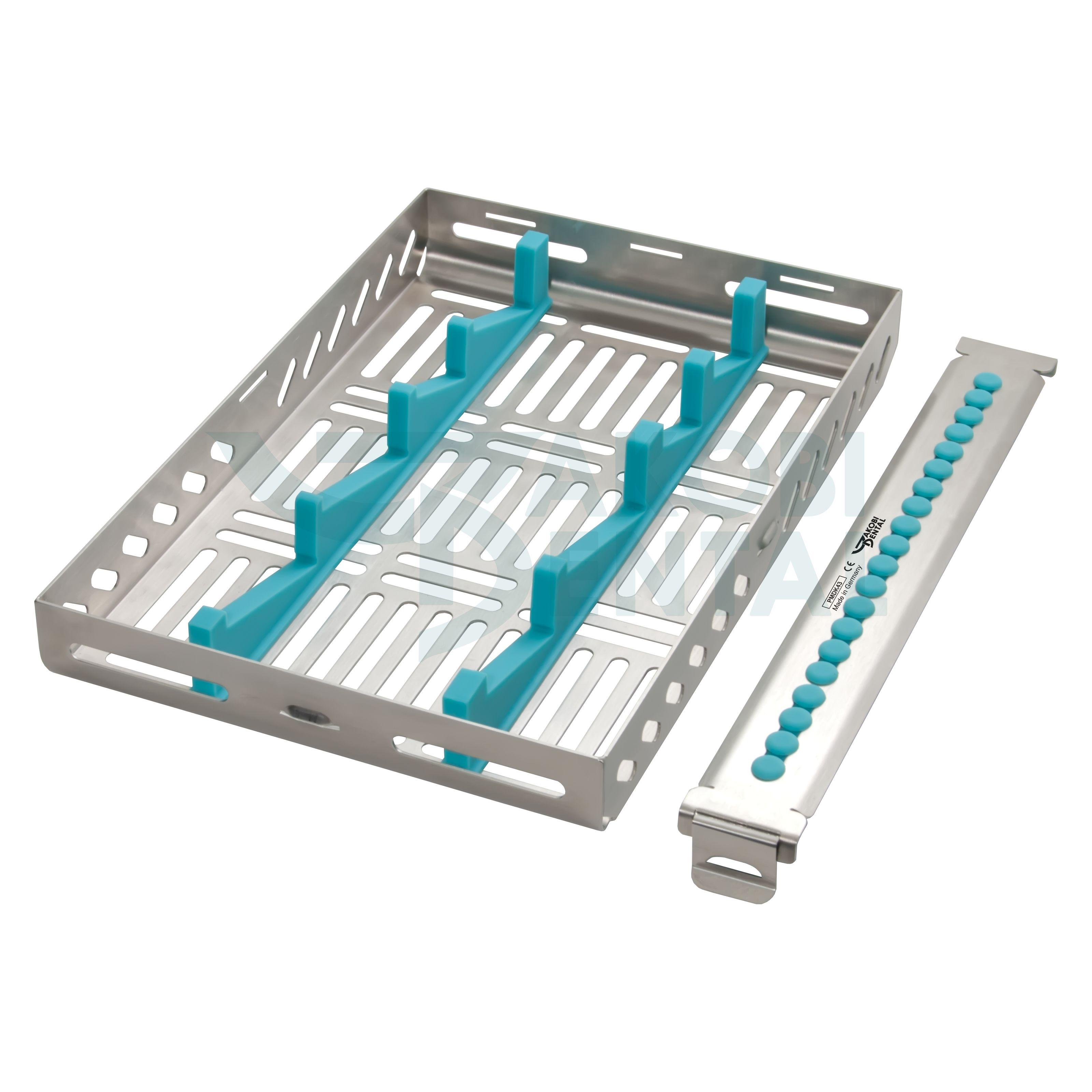 Fotospiegel-Kassette, DIN-Größe, für 4 Fotospiegel, chirurgischer Edelstahl