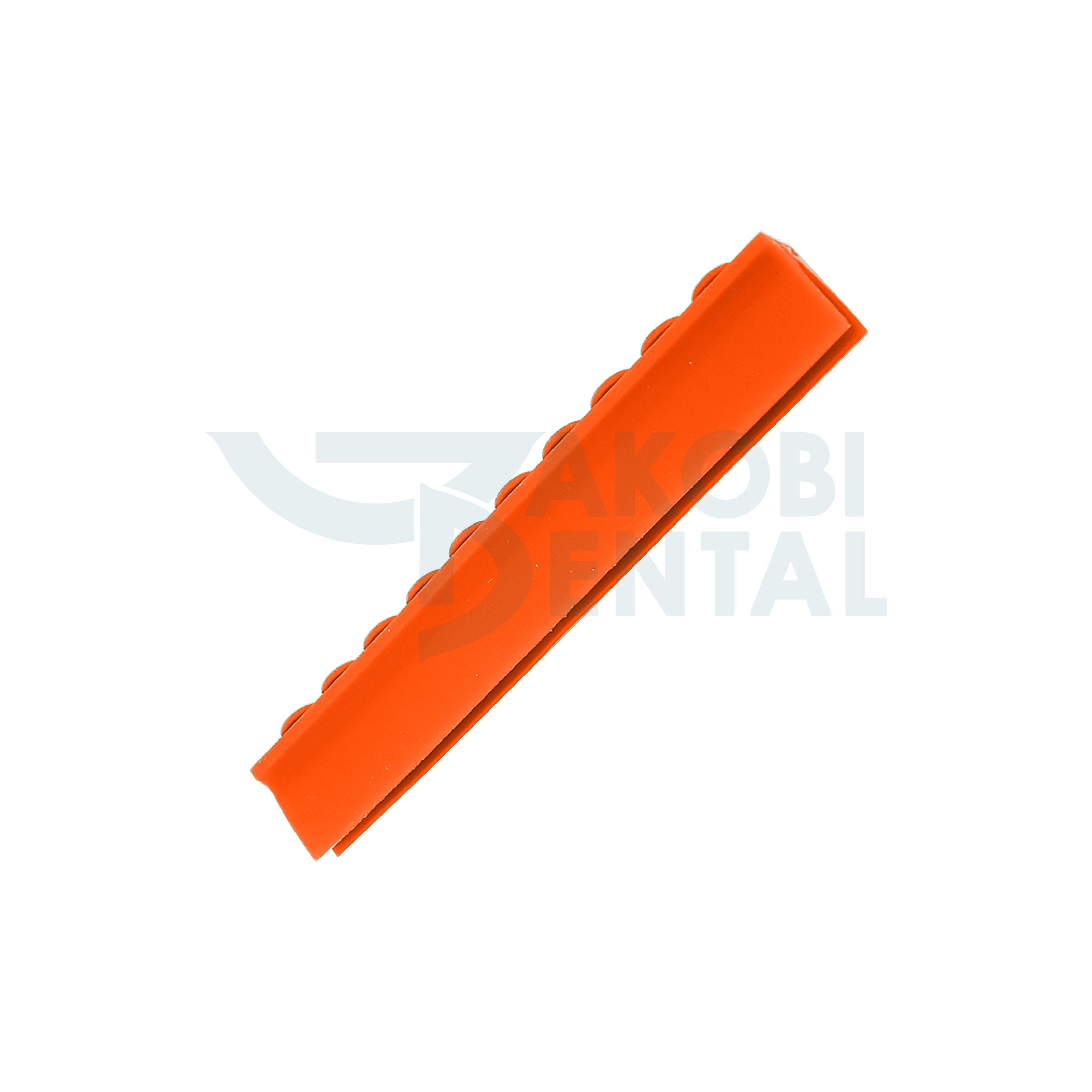 Deckelschiene für 10 Instrumente, orange