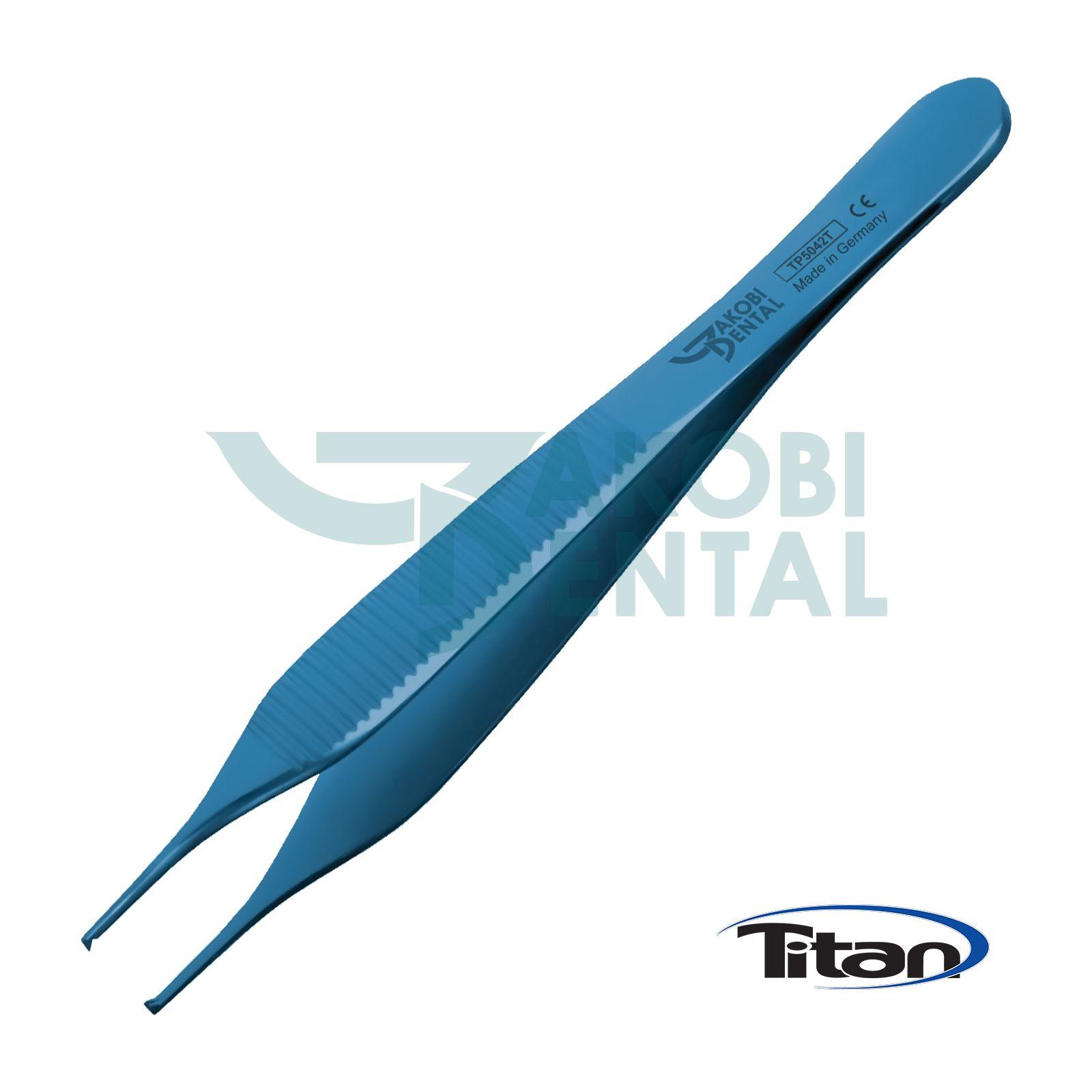 Titan Pinzette Adson, 1x2 Bezahnung, 120mm