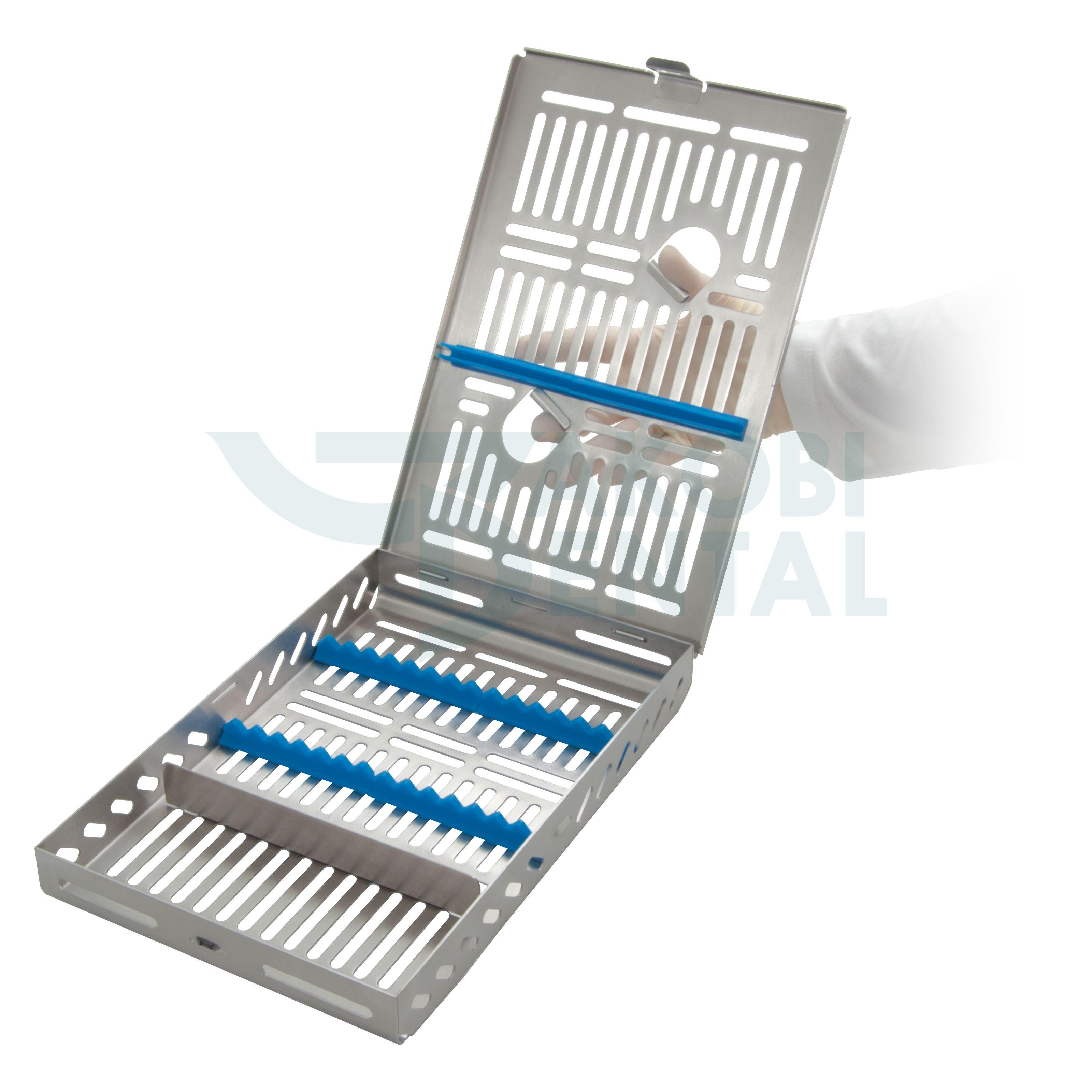 DIN Kassette / Waschtray für 14 Instr. + Extra Platz - Farbe wählbar