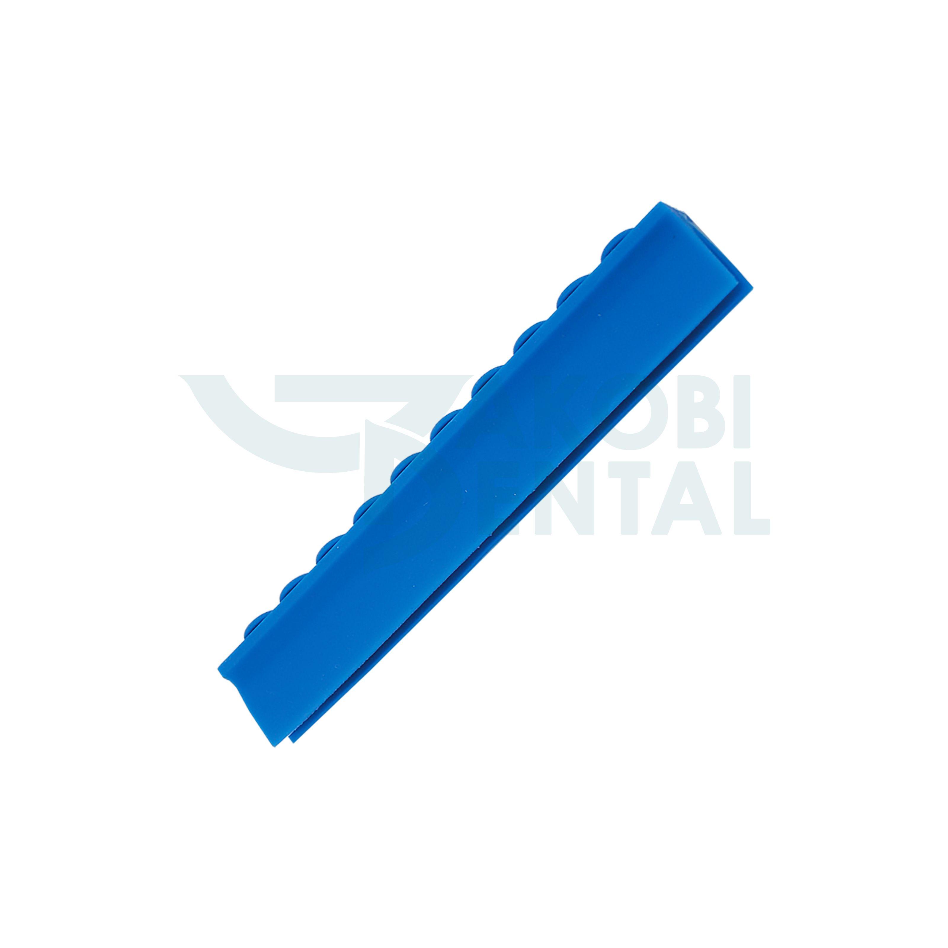 Deckelschiene für 10 Instrumente, blau
