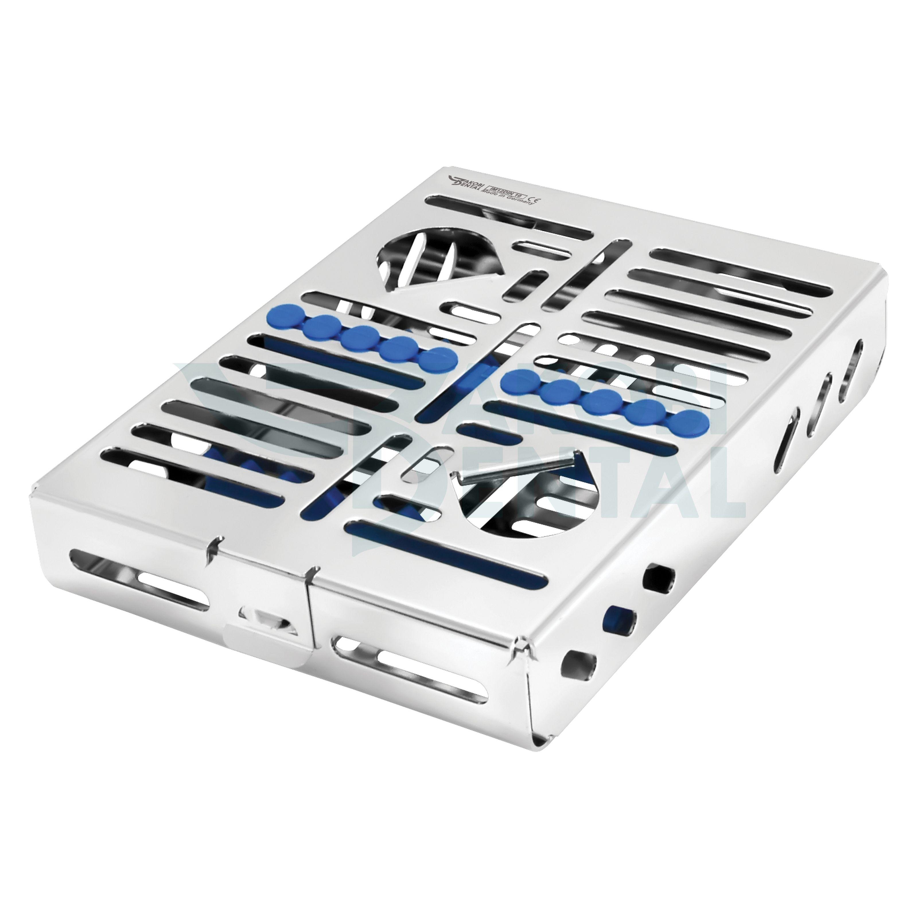 1/2DIN Kassette / Waschtray für 10 Instr. - Farbe wählbar